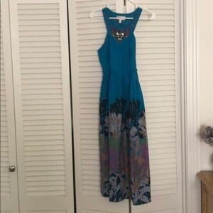 Silk floral beaded Anthropologie dress size 2